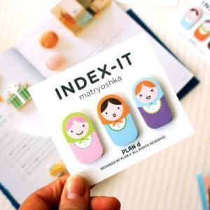 [韓国雑貨] INDEX-IT matryoshka (3個セット) [輸入雑貨] [文房具] [文具] [かわいい]  4|seoul4
