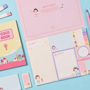 [韓国雑貨]HELLO COCO STICKY BOOK[韓国文房具][可愛い][かわいい][韓国 お土産]13K215021787532