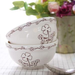 [韓国雑貨] クローバー陶磁器 お茶碗 2Pセット [お茶碗 2客セット] [韓国食器] [輸入雑貨] [かわいい] 13K215021447847 seoul4