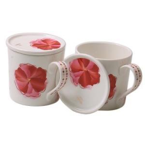 [韓国雑貨]フラワーカンタータ 蓋つきカップ[2個セット][韓国食器][花柄][可愛い][かわいい][韓国 お土産]13k215021786884|seoul4