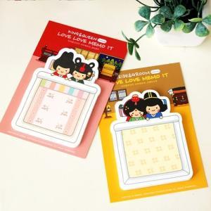[韓国雑貨] 伝統キャラクター ラブラブMEMO-IT [2個セット] [付箋] [輸入雑貨] [かわいい] TBT954342|seoul4