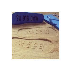 [韓国雑貨]足跡に想いを込めて… オーダーメイドのハングルビーチサンダル[ファッション][韓国 お土産][可愛い][かわいい]13k215022256703|seoul4