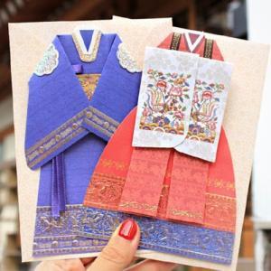 [韓国雑貨]婚礼の韓服カード[2種セット][韓国 お土産][可愛い][かわいい][文房具][文具]tbt1139340|seoul4