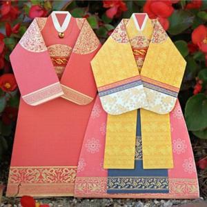 [韓国雑貨] 王室衣服の韓服カード [2種セット] [輸入雑貨] [文房具] [文具] [かわいい] tbt1139169|seoul4