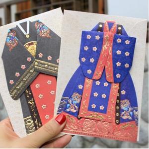 [韓国雑貨] 大礼服の韓服カード [2種セット] [輸入雑貨] [文房具] [文具] [かわいい] TBT1140148|seoul4
