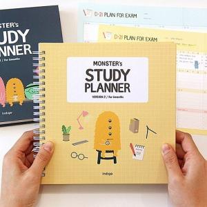 [韓国雑貨] いつからでも始められるお勉強ダイアリー MONSTER's STUDY PLANNER Ver.2 ≪6ヶ月用≫[スケジュール帳] [かわいい] bbs2791331|seoul4