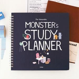 [韓国雑貨] いつからでも始められるお勉強ダイアリー MONSTER's STUDY PLANNER 《6ヶ月用》[スケジュール帳][手帳][かわいい]|seoul4