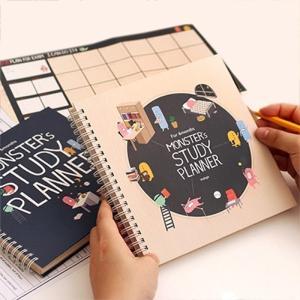 [韓国雑貨]いつからでも始められるお勉強ダイアリー MONSTER's STUDY PLANNER《6ヶ月用》[スケジュール帳][手帳][かわいい]|seoul4|02