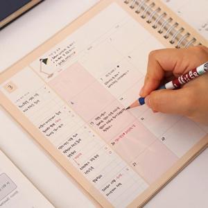[韓国雑貨]いつからでも始められるお勉強ダイアリー MONSTER's STUDY PLANNER《6ヶ月用》[スケジュール帳][手帳][かわいい]|seoul4|03