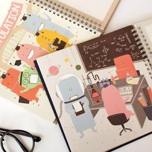 [韓国雑貨]いつからでも始められるお勉強ダイアリー MONSTER's STUDY PLANNER《6ヶ月用》[スケジュール帳][手帳][かわいい]|seoul4|05