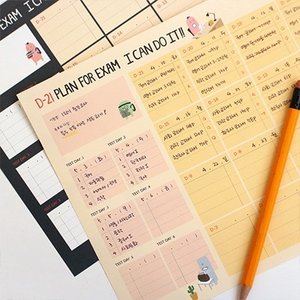 [韓国雑貨] いつからでも始められるお勉強ダイアリー MONSTER's STUDY PLANNER 《6ヶ月用》[スケジュール帳][手帳][かわいい]|seoul4|06