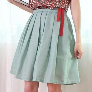 [韓国雑貨] 伝統衣装を今に蘇らせた  韓国の香りがするスカート≪軟玉色≫ [ファッション] [輸入雑貨] [かわいい]|seoul4