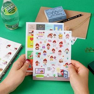 [韓国雑貨]あかずきんちゃんとお友だちステッカーセット《8シートセット》[シール][韓国 お土産][可愛い][かわいい][文房具][文具]|seoul4|05
