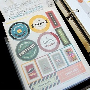 [韓国雑貨] 特別な一日デコパック (デコ+コーナー+収納ケース) ≪9シートセット≫ [シール] [かわいい] [輸入雑貨][文具] [かわいい]|seoul4