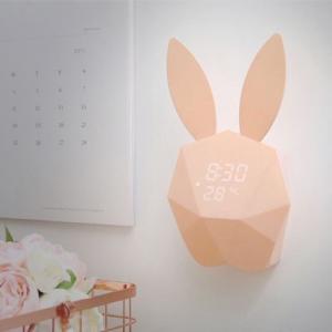 [韓国雑貨]間接照明にもなる うさぎの光るアラーム置き時計|seoul4