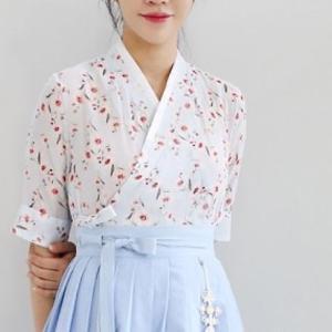 [韓国雑貨]=DAILY HAN = 普段使いする韓服 8部袖チョゴリ ≪小花≫[ファッション][韓国 お土産][可愛い][かわいい][セクシー]|seoul4