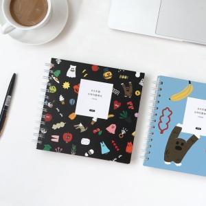 [韓国雑貨]韓国テンプレート付 かわいいオバケの勉強ノート ghost study planner[スタディープランナー][スケジュール帳][かわいい][文房具]|seoul4