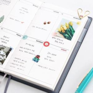 [韓国雑貨]=iconic= コンパクトでシンプル 2019 the planner S《2019年韓国暦》[ダイアリー][手帳][韓国文房具][可愛い][かわいい]|seoul4|05