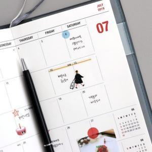 [韓国雑貨]=iconic= コンパクトでシンプル 2019 the planner S《2019年韓国暦》[ダイアリー][手帳][韓国文房具][可愛い][かわいい]|seoul4|06