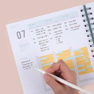 [韓国雑貨]2019年版 スクエアのハード表紙 今日のお勉強プランナー(1年用)[スタディプランナー][スケジュール帳][韓国文房具][可愛い]|seoul4|05
