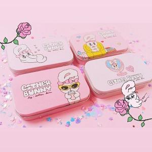 [韓国雑貨]=ESTHER LOVES YOU= お得な2つセット 缶ケースステッカーセット《選べる2個セット》 [エスターバニー][可愛い][かわいい][韓国 お土産]|seoul4