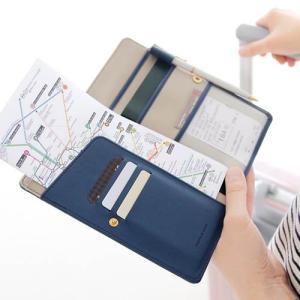 [韓国雑貨]大切なものは全て収納! パスポートケース+サイフ+チケット+カードケース[輸入雑貨] [かわいい]|seoul4