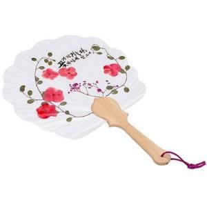 [韓国雑貨]押し花の韓国風うちわ 手作りキット[ファッション][韓国 お土産][可愛い][かわいい]|seoul4