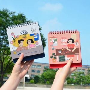 [韓国雑貨]目標達成をカウントダウン キモカワなイラストが応援してくれる100日プランナー[スケジュール帳][手帳][韓国文房具][可愛い]|seoul4