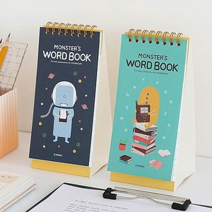 [韓国雑貨]スタンド式の毎日見る単語帳 Monster's word book《2冊セット》[輸入雑貨] [かわいい]|seoul4