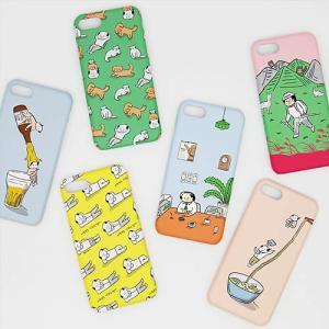 [韓国雑貨]-SSBA- アジャシのアイフォンカバー iPhone6s/6s+/7/7+≪選べる6タイプ≫[韓国 お土産][可愛い][かわいい][文房具][文具]|seoul4