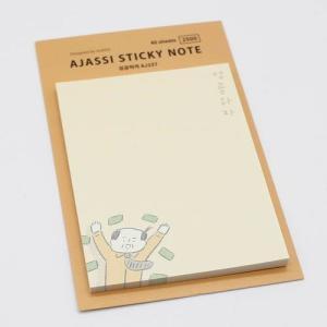 [韓国雑貨]-SSBA- アジャシが癒す メモ帳ポストイット(選べる3種セット)[韓国 お土産][可愛い][かわいい][文房具][文具]|seoul4|02