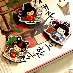[韓国雑貨] 伝統キャラクター ラブストーリーマグネット(選べる2タイプ) [かわいい]|seoul4