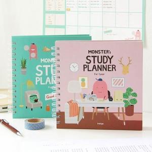 [韓国雑貨]いつからでも始められるお勉強ダイアリー MONSTER's STUDY PLANNER《一年用》[スケジュール帳][韓国文房具][可愛い][かわいい]|seoul4