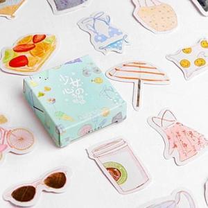 [韓国雑貨]角砂糖のようにSWEETなフレークシールセット《選べる3セット》[シール][韓国 お土産][可愛い][かわいい][文房具][文具]|seoul4