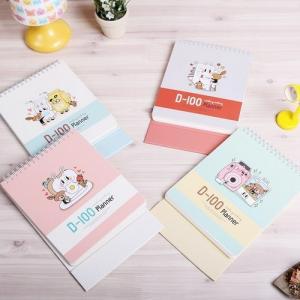 [韓国雑貨]カラフルポップな 卓上スタディプランナー(100day)《選べる2冊セット》[スタディープランナー][お土産][可愛い][かわいい][文房具]|seoul4