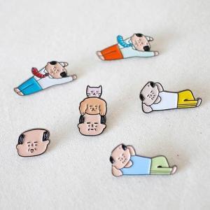 [韓国雑貨]-SSBA- アジャシがワンポイント 個性的なピンバッジ(選べる2種セット)[韓国 お土産][可愛い][かわいい][文房具][文具]|seoul4