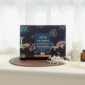 [韓国雑貨]THE BONBON DESK VALENDAE L ≪2018年韓国暦≫ [カレンダー] [輸入雑貨] [文房具] [文具] [かわいい]|seoul4