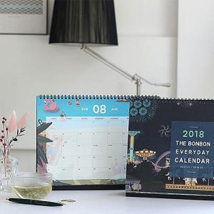 [韓国雑貨]THE BONBON DESK VALENDAE L《2018年韓国暦》[カレンダー][韓国 お土産][可愛い][かわいい][文房具][文具] seoul4 02