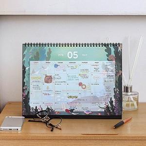 [韓国雑貨]THE BONBON DESK VALENDAE L ≪2018年韓国暦≫ [カレンダー] [輸入雑貨] [文房具] [文具] [かわいい]|seoul4|03