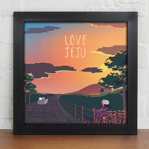 [韓国雑貨]愛するチェジュをお部屋に飾る LOVE JEJU ≪選べる額色2タイプ≫[韓国 お土産][可愛い][かわいい]|seoul4