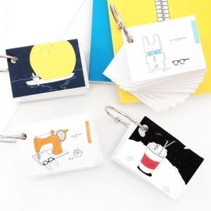 [韓国雑貨]韓国語のお勉強にピッタリ めがねウサギの単語帳 (選べる5冊セット)[韓国 雑貨][文具][アジアン雑貨] seoul4