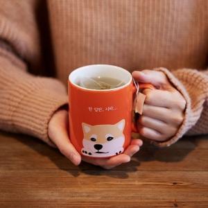 [韓国雑貨]ワンコ好きさんのための ハングル台詞のマグカップセット《2つセット》[文房具]|seoul4