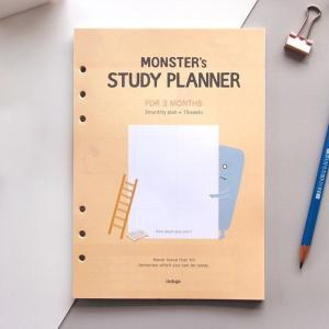 [韓国雑貨]追加できるプランナー Monster's study planner ≪選べるリフィル×2セット≫[スタディプランナー][スケジュール帳][韓国文房具][可愛い]|seoul4