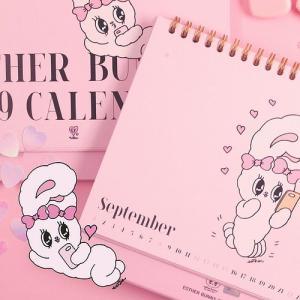 [韓国雑貨]=ESTHER LOVES YOU= ハイパーガーリーな2019カレンダー[韓国 お土産][可愛い][かわいい][エスターバニー]|seoul4