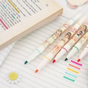 [韓国雑貨]=paper doll mate= 乙女なアナタのカラーペンセット《2Way》[韓国 お土産][可愛い][かわいい][文房具][文具]|seoul4