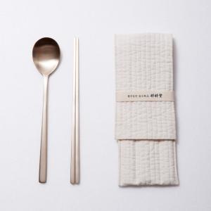[韓国雑貨]本物志向の方へ 伝統的なヌビの専用ケース付き 銅のスッカラ&チョッカラセット(一人用)[韓国食器][可愛い][かわいい]|seoul4|02