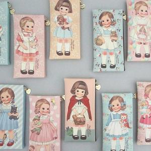 [韓国雑貨]=paper doll mate= 乙女なアナタへ 薄型ポーチのpencase[韓国 お土産][可愛い][かわいい][文房具][文具]|seoul4