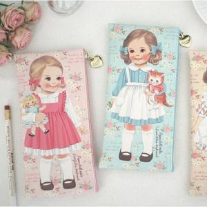 [韓国雑貨]=paper doll mate= 乙女なアナタへ 薄型ポーチのpencase[韓国 お土産][可愛い][かわいい][文房具][文具]|seoul4|02