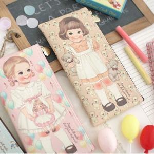 [韓国雑貨]=paper doll mate= 乙女なアナタへ 薄型ポーチのpencase[韓国 お土産][可愛い][かわいい][文房具][文具]|seoul4|05