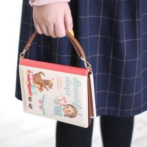 [韓国雑貨]=paper doll mate= 絵本のようなミニポーチ Book Clutch. S《選べる3タイプ》[韓国 お土産][可愛い][かわいい][文房具][文具]|seoul4